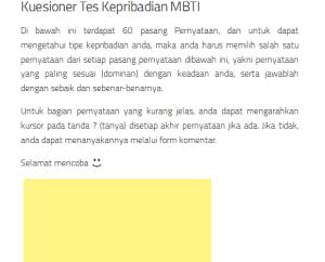 MBTI 1